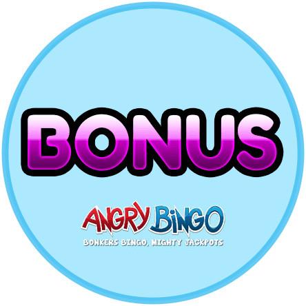 Latest bingo bonus from Angry Bingo