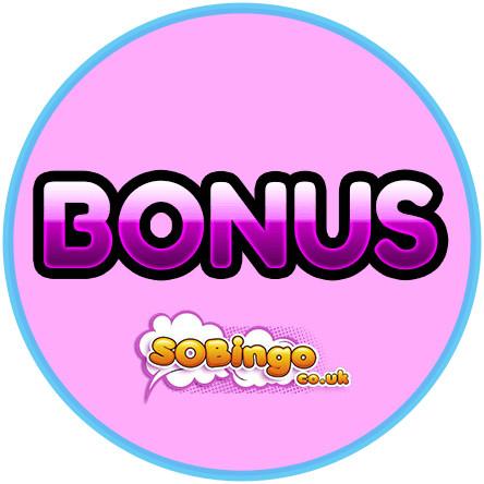 Latest bingo bonus from SoBingo