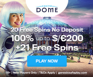 Latest bonus from Casino Dome