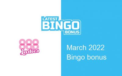 Latest 888Ladies bingo bonus