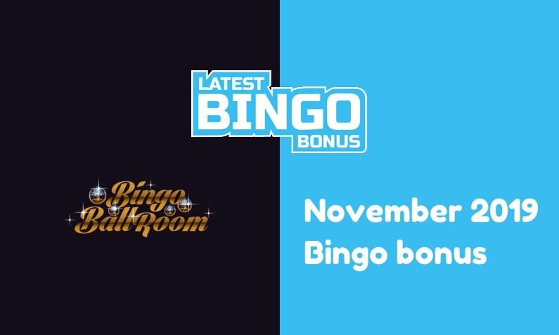 Latest bingo bonus from Bingo Ballroom Casino November 2019