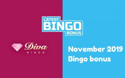 Latest bingo bonus from Diva Bingo Casino November 2019