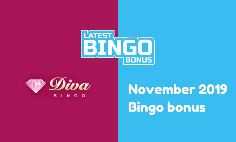 Latest bingo bonus from Diva Bingo Casino November 2019