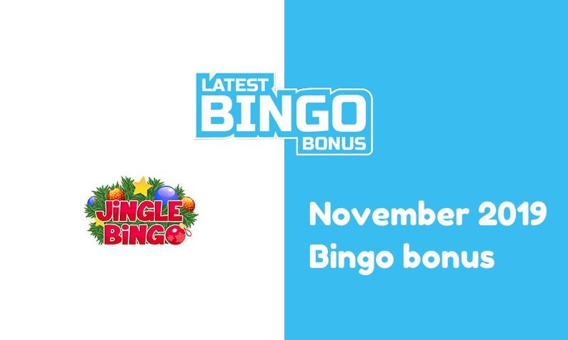 Latest bingo bonus from Jingle Bingo Casino November 2019