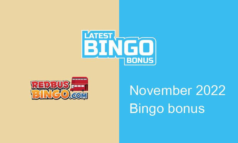 Latest bingo bonus from RedBus Bingo Casino