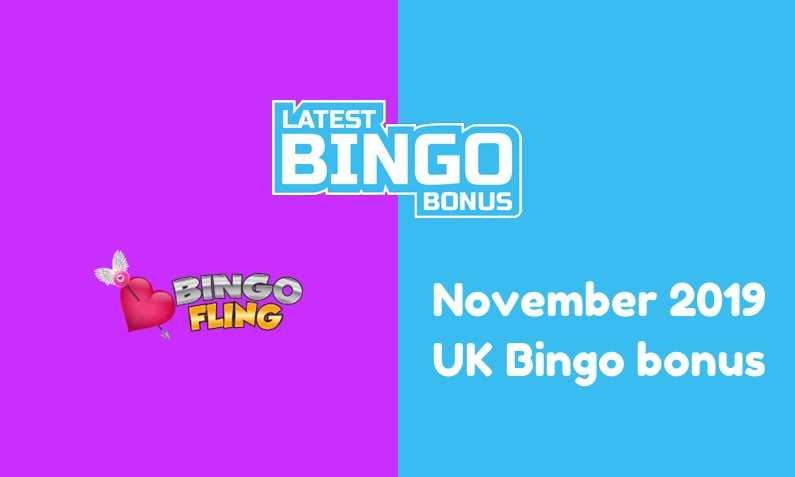 Latest Bingo Fling UK bingo bonus