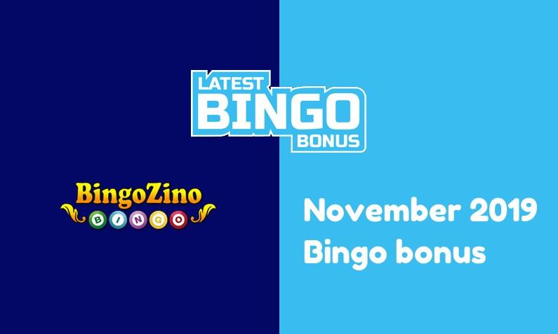Latest BingoZino Casino bingo bonus