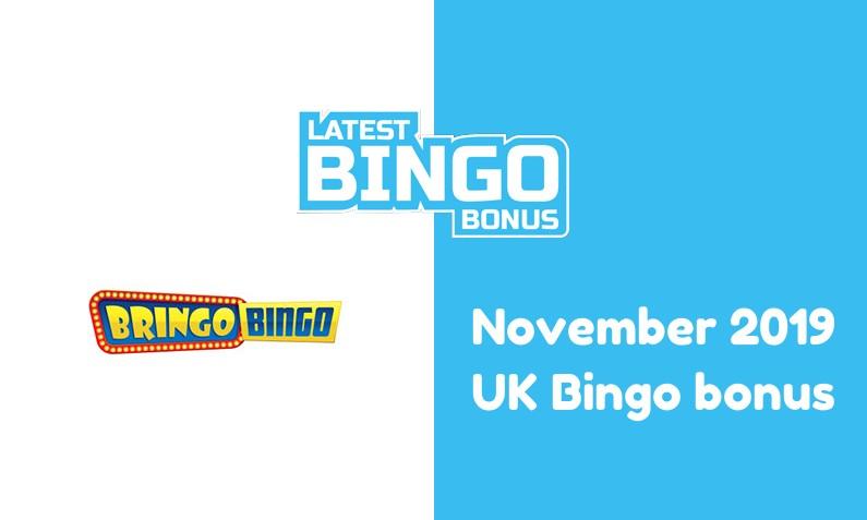Latest Bringo Bingo UK bingo bonus November 2019