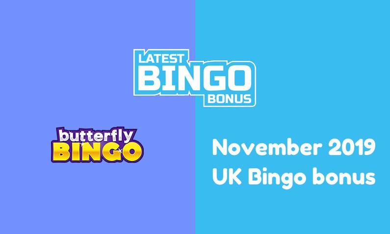 Latest Butterfly Bingo Casino bingo bonus for UK players November 2019