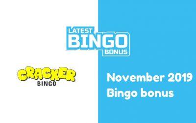 Latest Cracker Bingo Casino bingo bonus