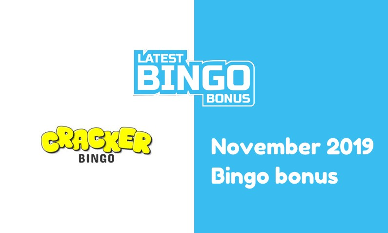 Latest Cracker Bingo Casino bingo bonus