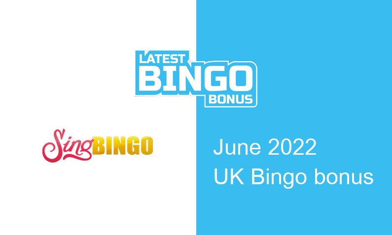Latest Sing Bingo bingo bonus for UK players