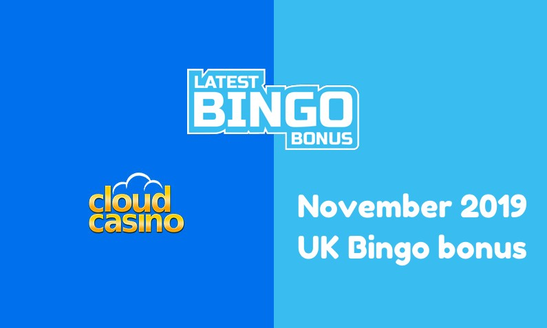 Latest UK bingo bonus from Cloud Casino