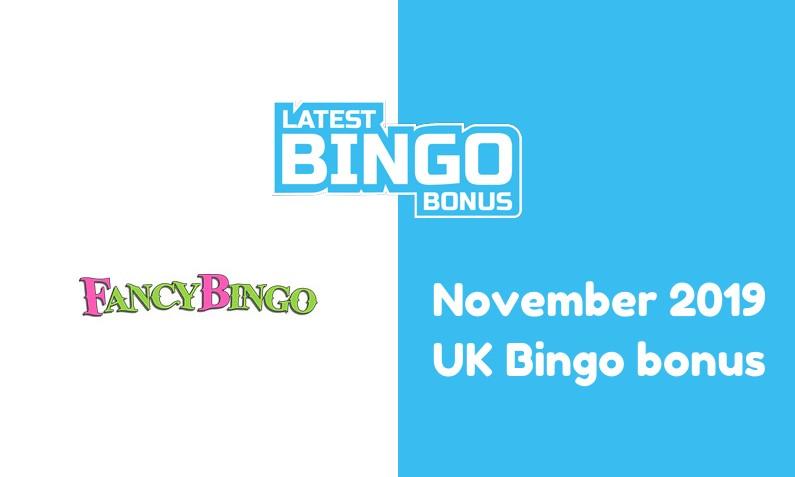 Latest UK bingo bonus from Fancy Bingo